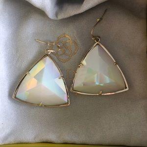 Kendra Scott Nikki Drop Earrings White Iridescent